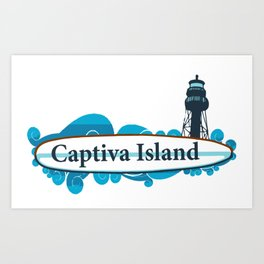 Captiva Island  - Florida. Art Print