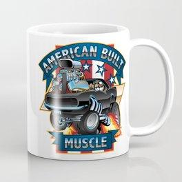 American Built Muscle - Classic Muscle Car Cartoon Illustration Coffee Mug