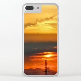 Sunset Horizon Clear iPhone Case
