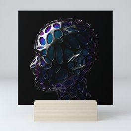 Cyberpunk Human Robot Mini Art Print