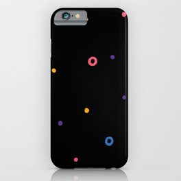 Multicolor dot iPhone Case
