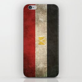 Old and Worn Distressed Vintage Flag of Egypt iPhone Skin