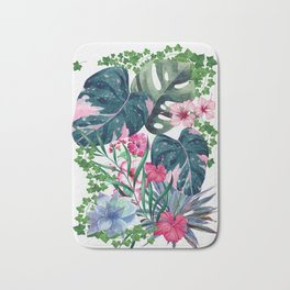 Tropical Plants Bath Mat