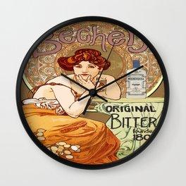 Vintage poster - Becher's Bitters Wall Clock