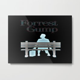 Forrest On The Bench Metal Print
