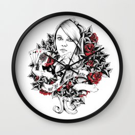 The Rabbit Chaser Wall Clock