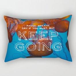 keep going jellyfish Rectangular Pillow