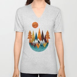 The Night Of The Wolf Unisex V-Neck