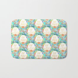 Be Wild Be Free - A tropical Floral Print Bath Mat