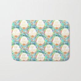Be Wild Be Free - A tropical Floral Print Bath Mat
