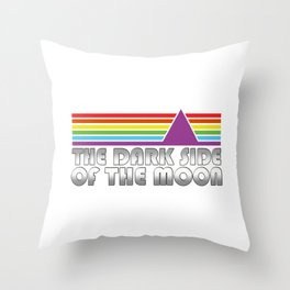The Dark Side Of The Moon Retro Throw Pillow