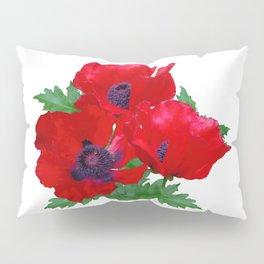 Red oriental poppies Pillow Sham