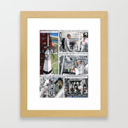 Apollo 11 comic - page 4 Framed Art Print