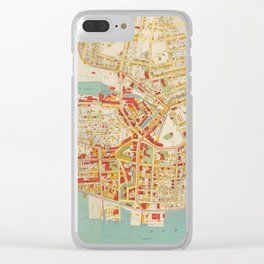 Vintage Map of Yonkers NY (1893) Clear iPhone Case