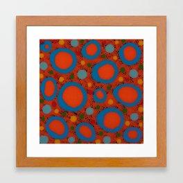Untitled, blue rings Framed Art Print
