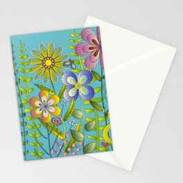 Petty Flowers Pattern 3 Stationery Cards