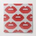Lips pattern - white by knittedcake