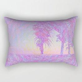 Beach Pink Rectangular Pillow