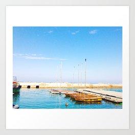 Yafo Port Art Print