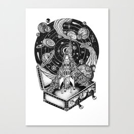 Cosmos Space Travel Canvas Print