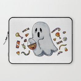 Trick or Treating Halloween Ghost Laptop Sleeve