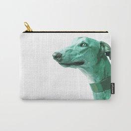 Green Greyhound. Pop Art portrait. Carry-All Pouch