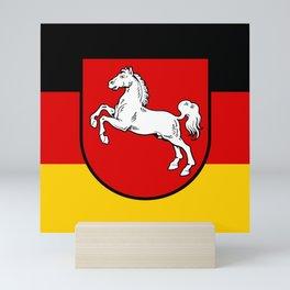 Flag of Niedersachsen (Lower Saxony) Mini Art Print