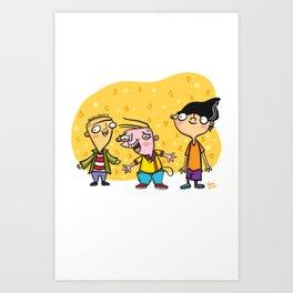 Ed, Edd, and Eddy Cool Kids of the 90's Art Print