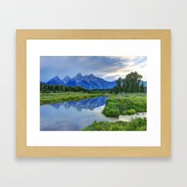 Schwabacher Landing - Grand Teton National Park Framed Art Print