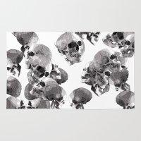 skulls Area & Throw Rugs featuring Skulls by Rik Reimert
