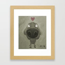 Weimaraner Love - Grey Framed Art Print