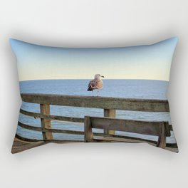Perched On The Pier Rectangular Pillow