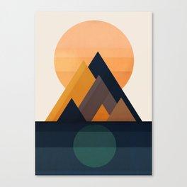 Twin Sun Canvas Print