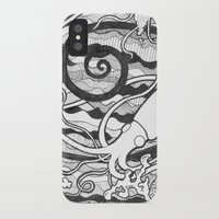 squid iPhone & iPod Cases featuring Squid by LizPalo
