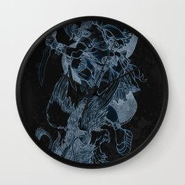'The Slayer' by Kevin C. Steele Wall Clock