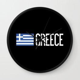 Greece: Greek Flag & Greece Wall Clock