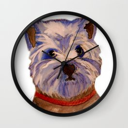 West highland terrier Westie dog love Wall Clock