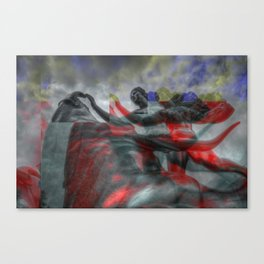 Ride the Bull (Glitch) Canvas Print