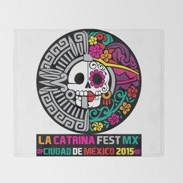 La Catrina Fest MX 2015 Throw Blanket