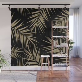 Palm Leaves Cali Finesse #1 #gold #tropical #decor #art #society6 Wall Mural