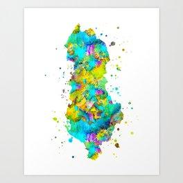 Albania Map Art Print