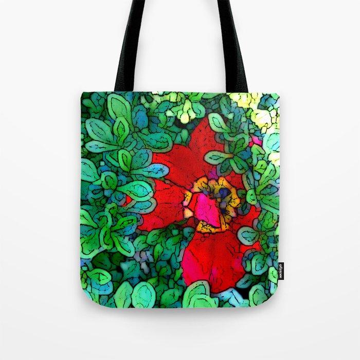 Shy Tulip Hiding Tote Bag