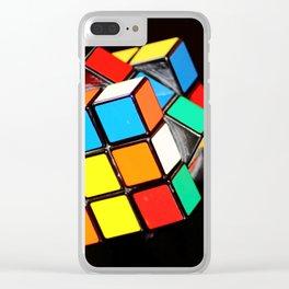 Rubik's cube Clear iPhone Case
