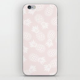 Pineapple pattern on pink 022 iPhone Skin