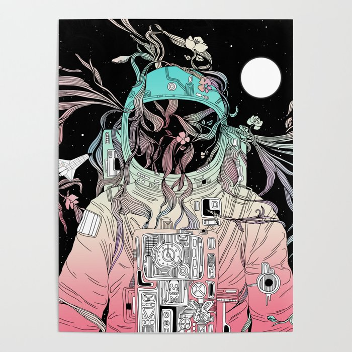 Life is Invading My Space Poster