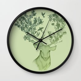 The Natural Progression? 1 of 3 in Green Wall Clock