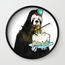 sloth birthday Wall Clock