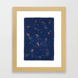 Sky swim Framed Art Print