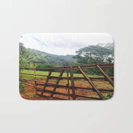 Rusty Kauai Fence Bath Mat