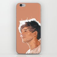 louis tomlinson iPhone & iPod Skins featuring Louis Tomlinson  by Danny Spikes